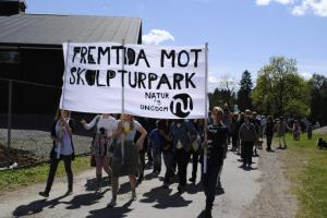 Nordstrand natur og Ungdom demonstrerer